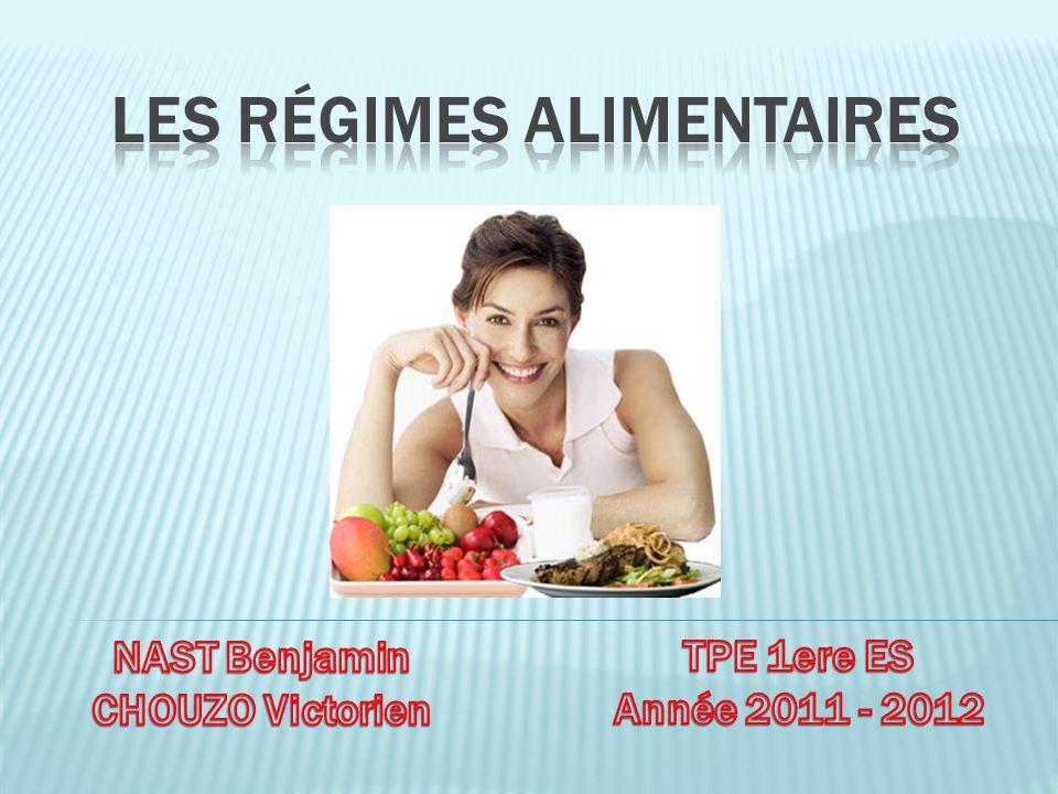 Les régimes alimentaires