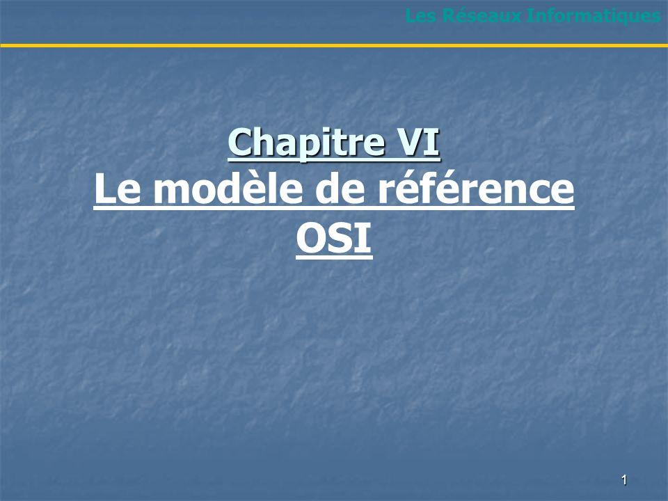 Chapitre VI Le modèle de référence OSI