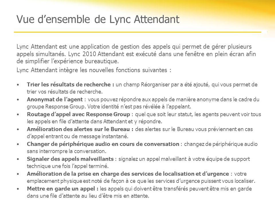 Vue d'ensemble de Lync Attendant