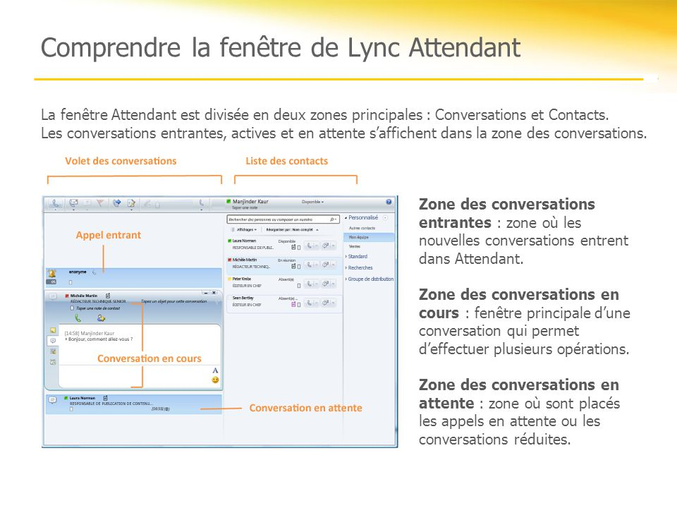 Microsoft lync 2010 formation sur attendant ppt video for Fenetre zone de qualification