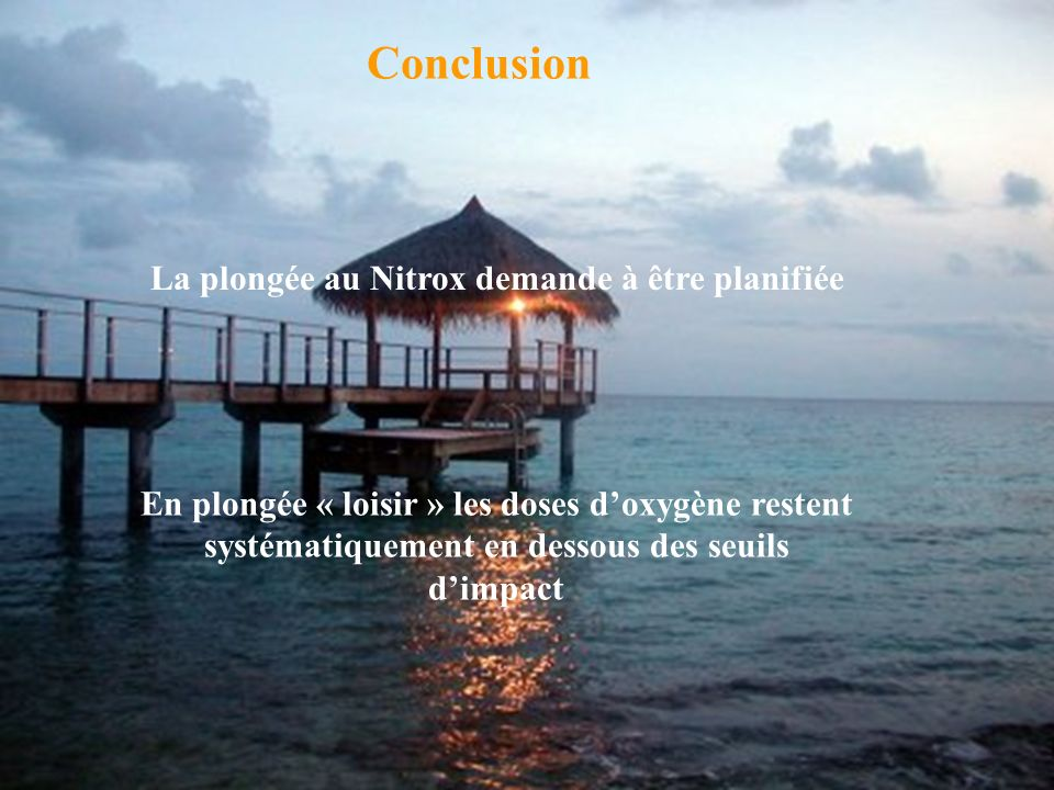 La plongée au Nitrox demande à être planifiée