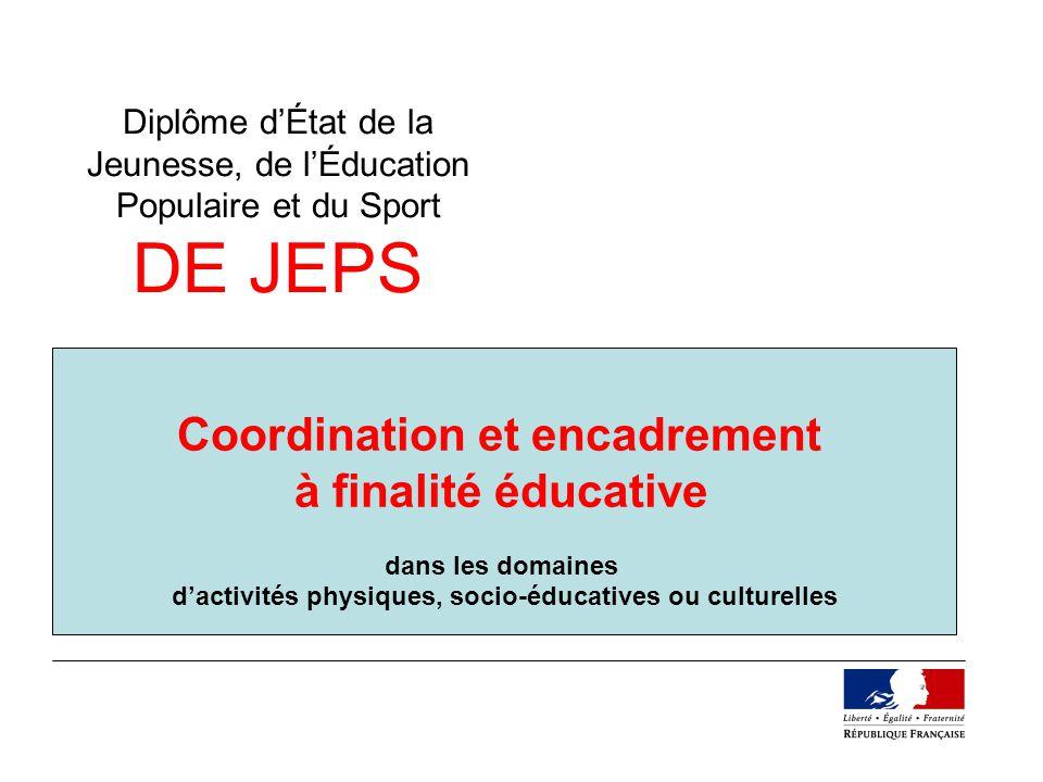 Coordination et encadrement à finalité éducative