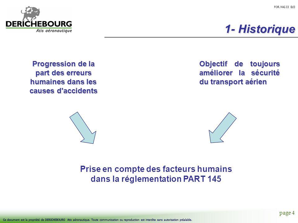 Prise en compte des facteurs humains dans la réglementation PART 145
