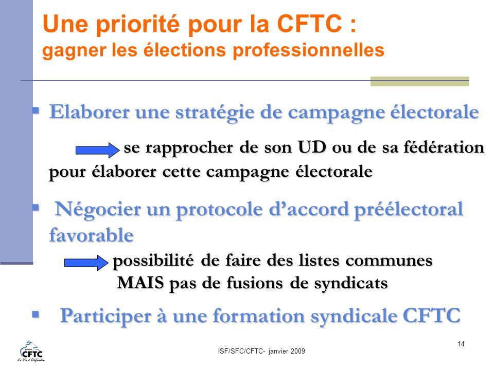 Une priorité pour la CFTC : gagner les élections professionnelles