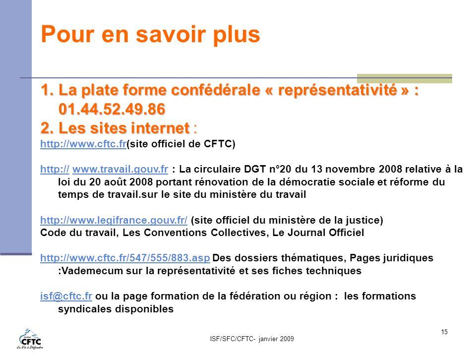 Quelles sont les nouvelles r gles pour la cftc ppt for Chambre sociale 13 janvier 2009
