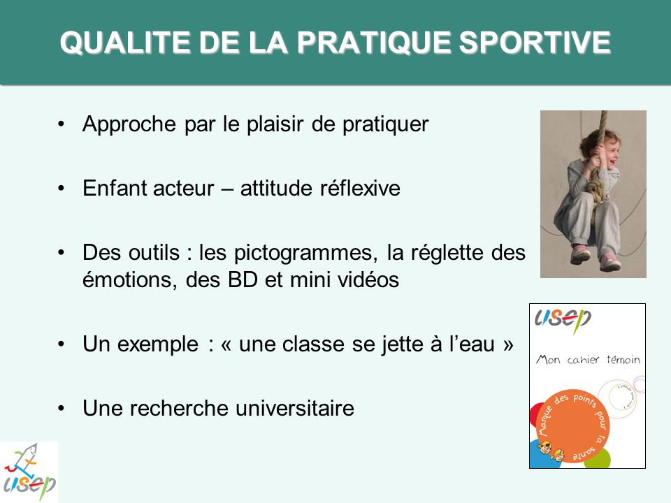 QUALITE DE LA PRATIQUE SPORTIVE