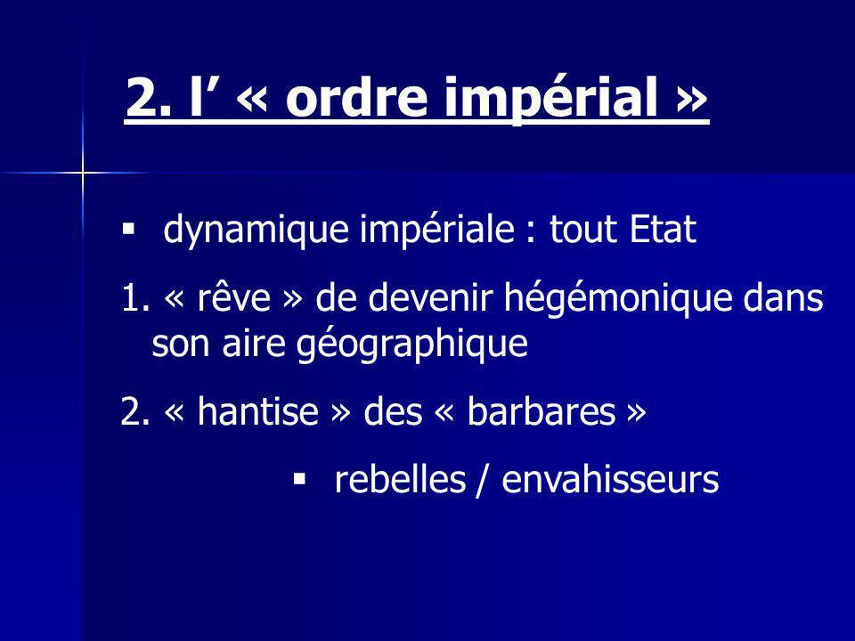 2. l' « ordre impérial » dynamique impériale : tout Etat