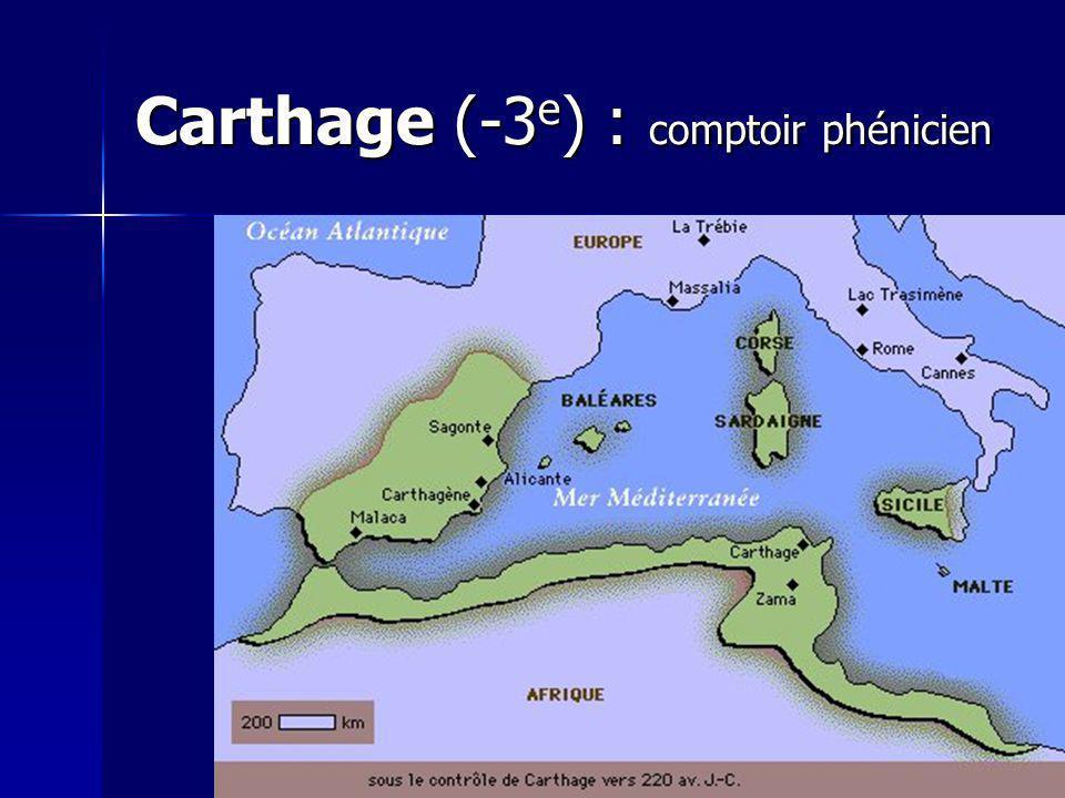 Carthage (-3e) : comptoir phénicien