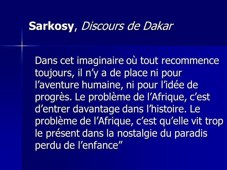 Sarkosy, Discours de Dakar