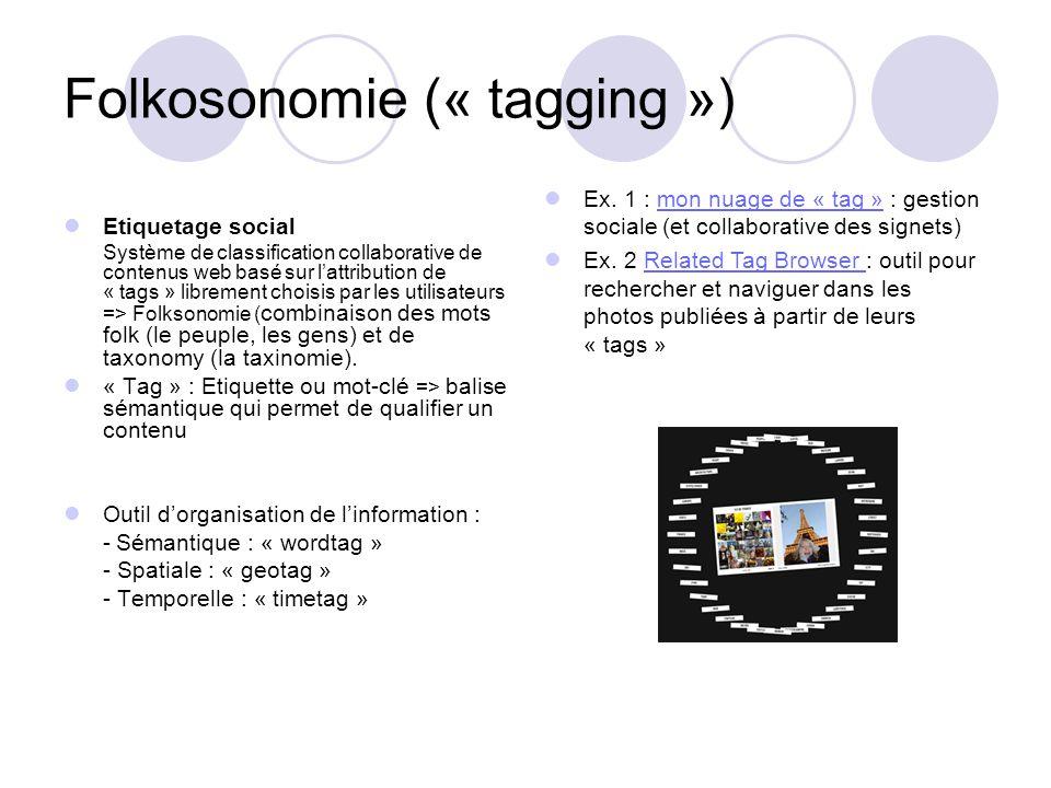 Folkosonomie (« tagging »)
