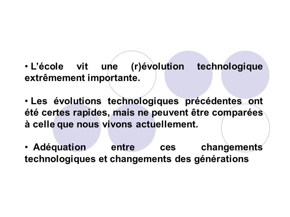 L'école vit une (r)évolution technologique extrêmement importante.