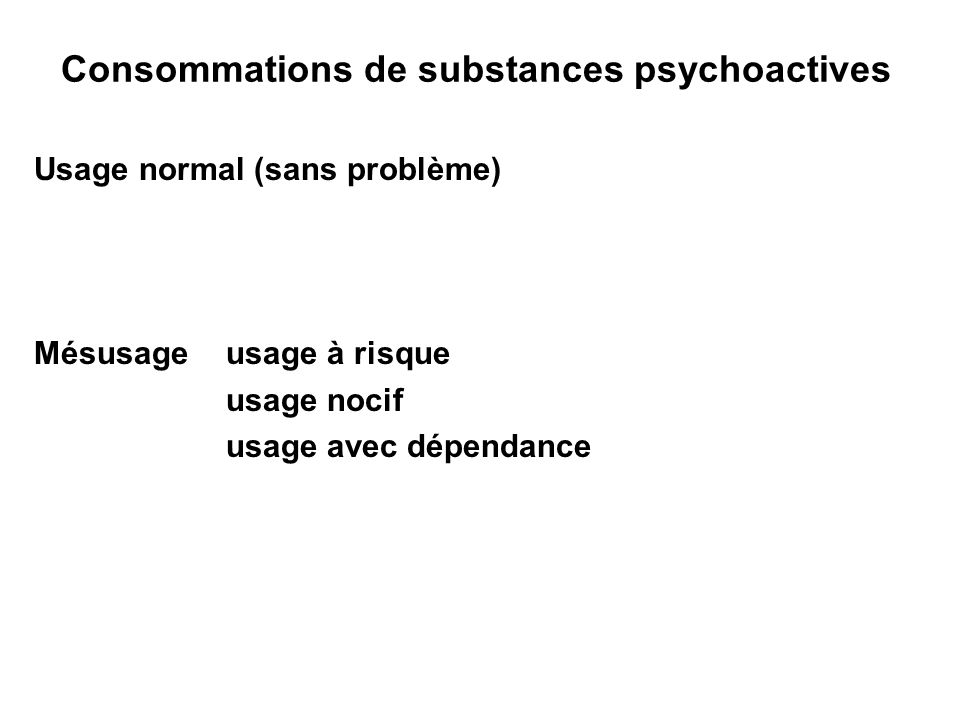 Consommations de substances psychoactives