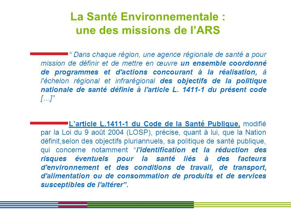 La Santé Environnementale : une des missions de l'ARS