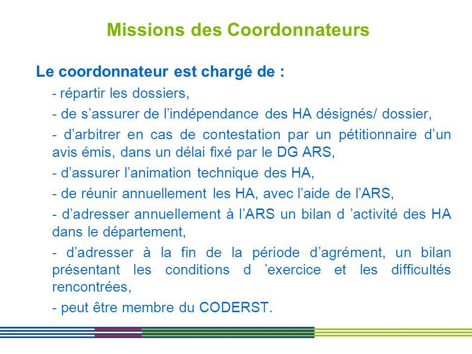 Missions des Coordonnateurs