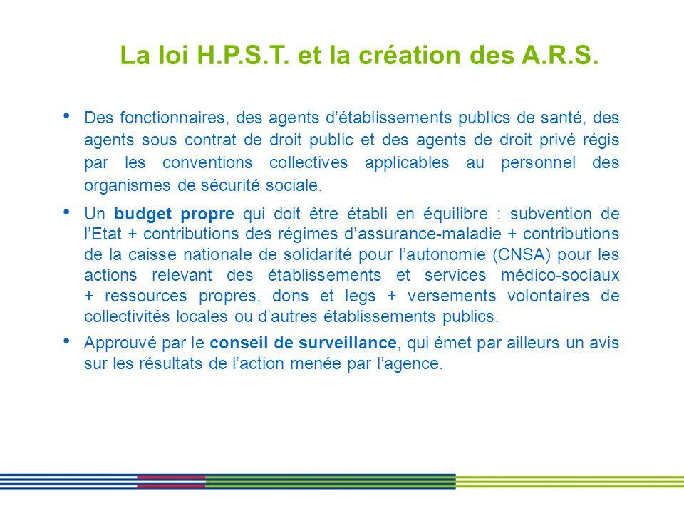 La loi H.P.S.T. et la création des A.R.S.