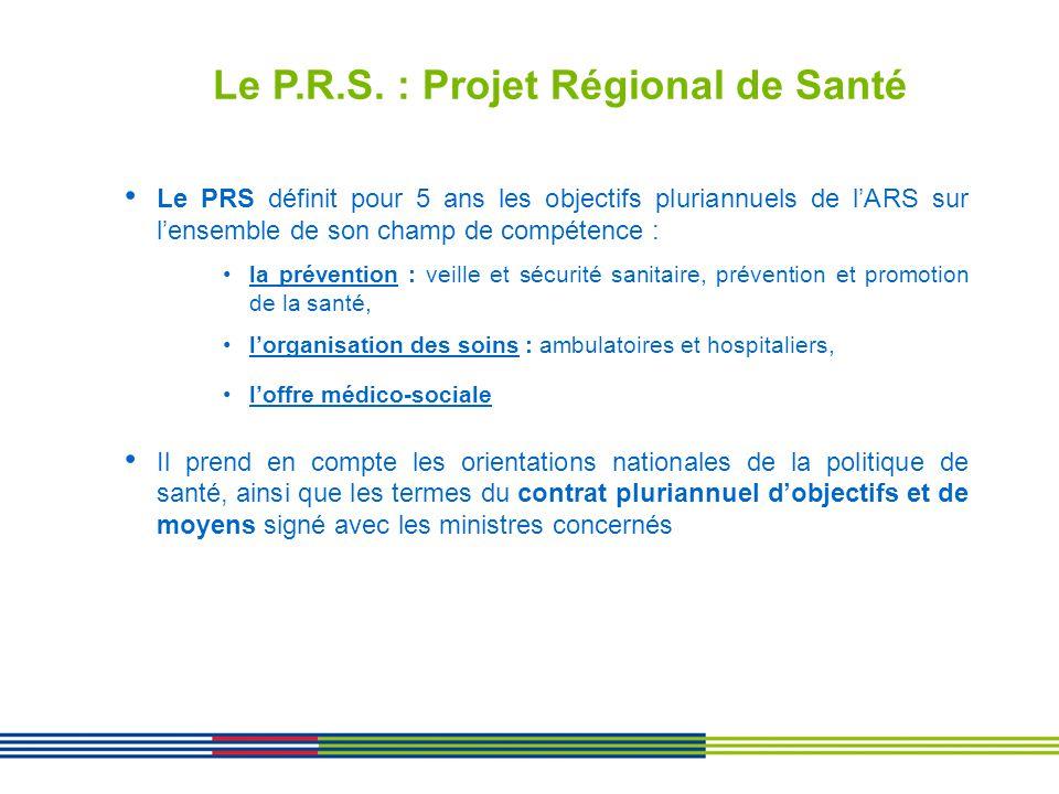 Le P.R.S. : Projet Régional de Santé