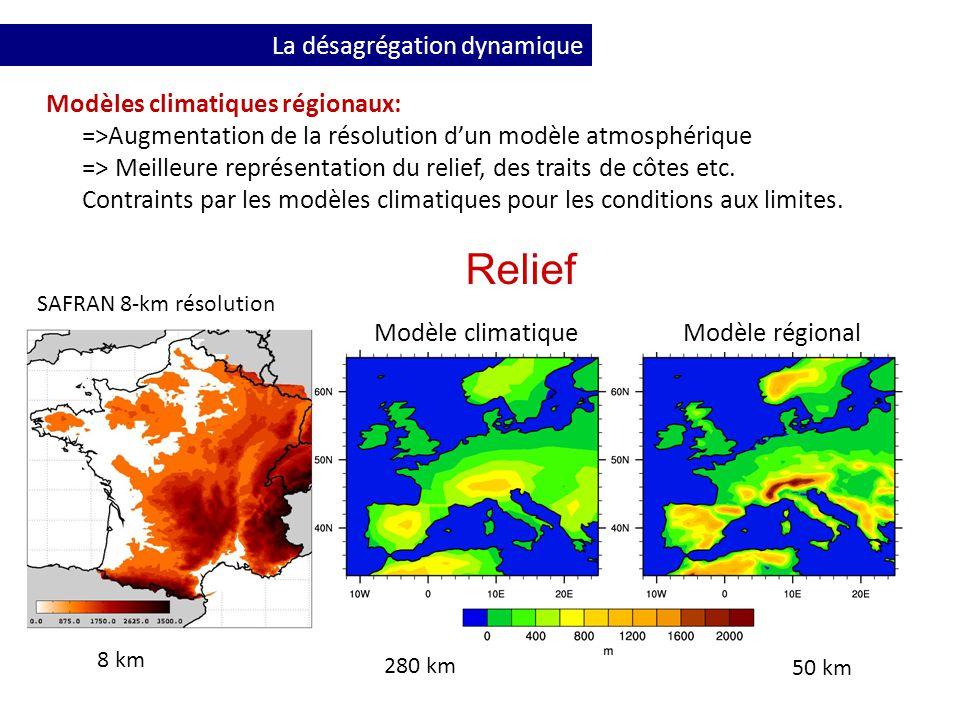 Relief La désagrégation dynamique Modèles climatiques régionaux: