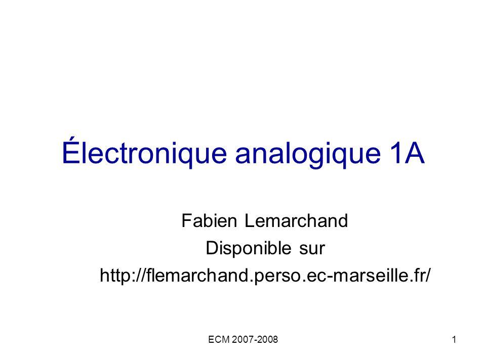 Électronique analogique 1A