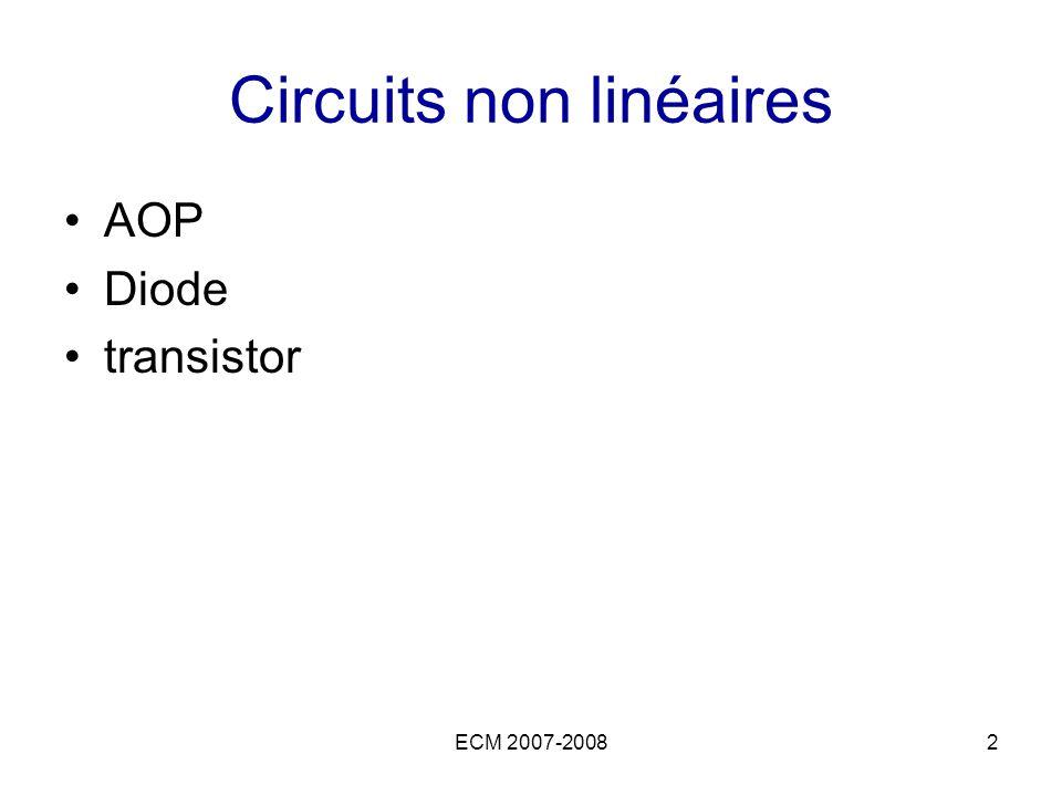 Circuits non linéaires
