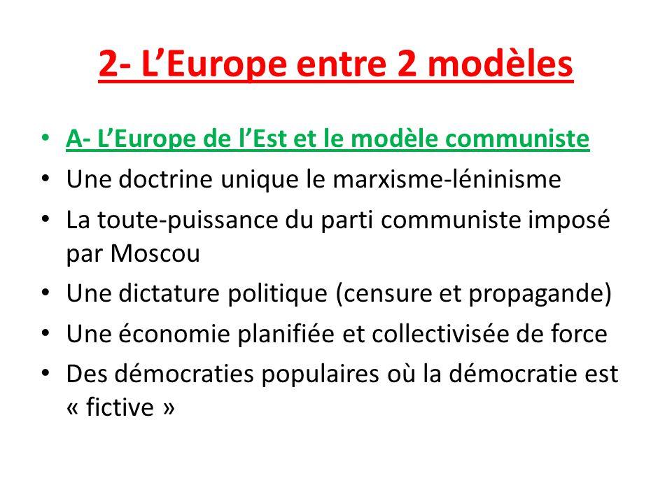 2- L'Europe entre 2 modèles
