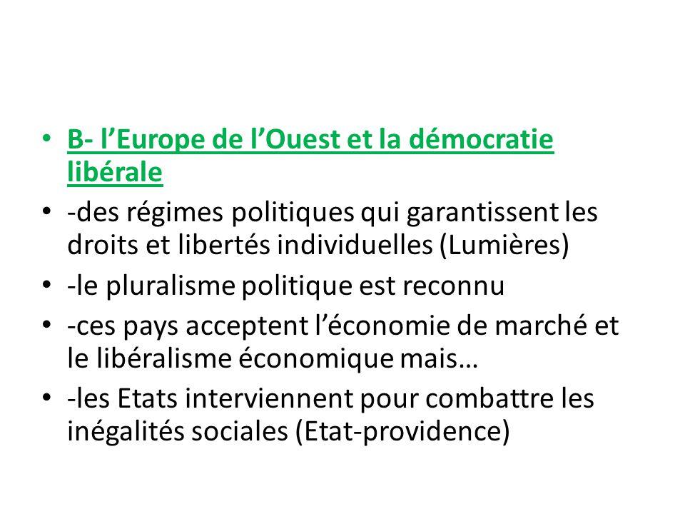 B- l'Europe de l'Ouest et la démocratie libérale