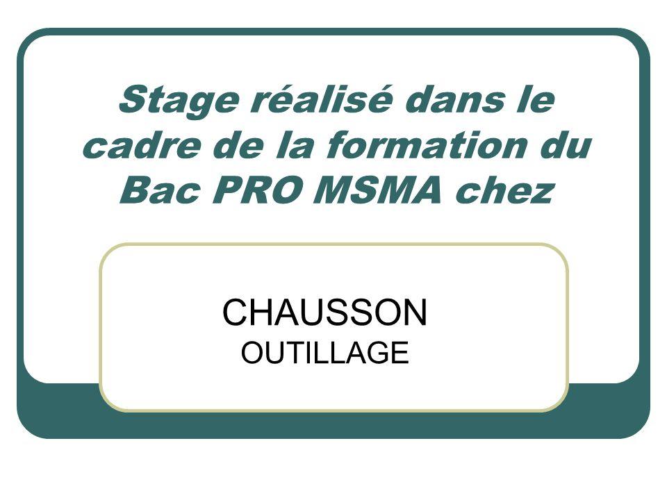 Stage réalisé dans le cadre de la formation du Bac PRO MSMA chez