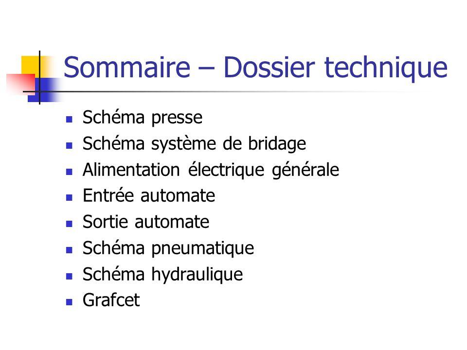 Sommaire – Dossier technique