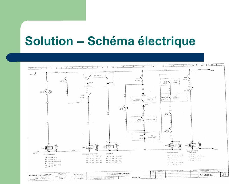 Solution – Schéma électrique