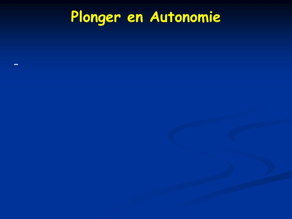 Plonger en Autonomie