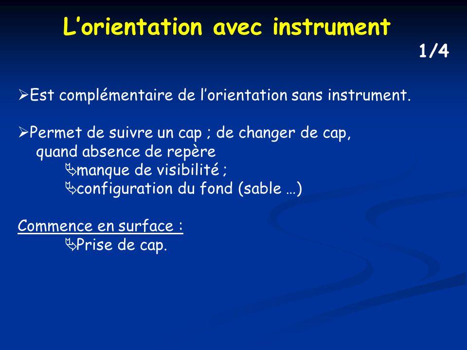 L'orientation avec instrument