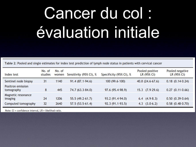 Cancer du col : évaluation initiale