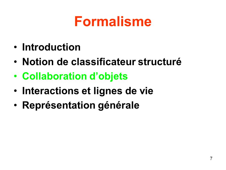Formalisme Introduction Notion de classificateur structuré