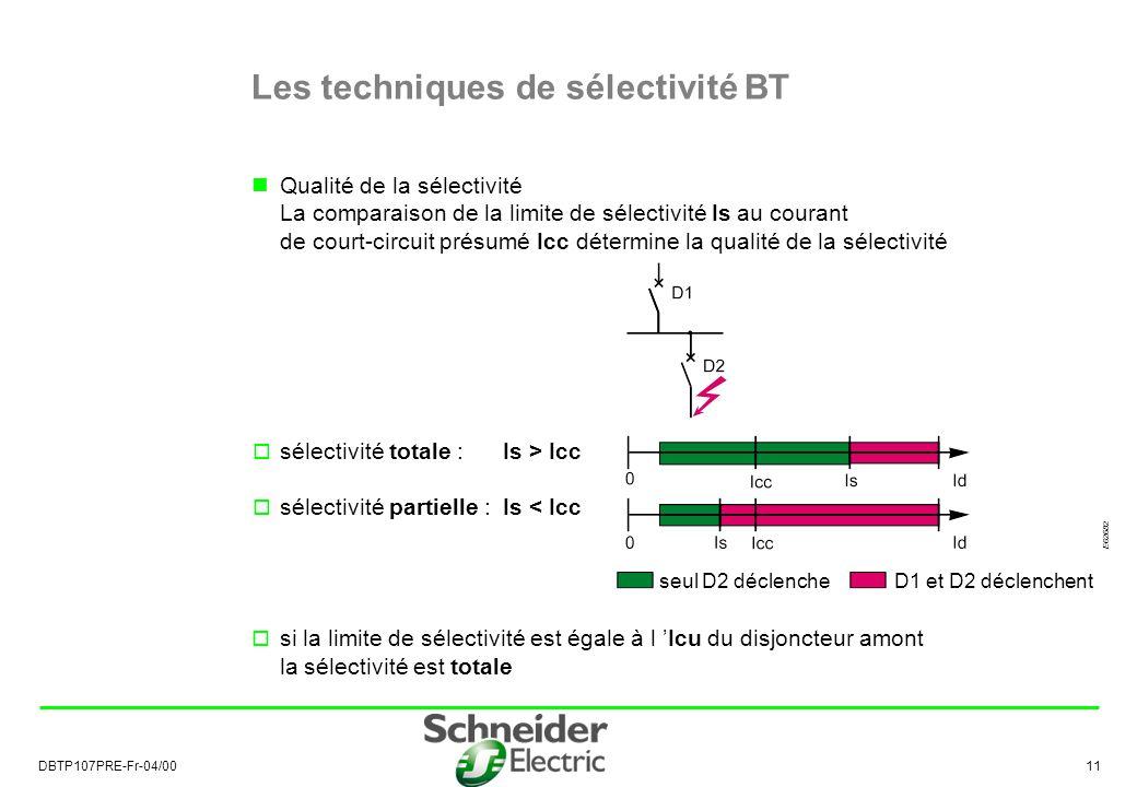 Les techniques de sélectivité BT