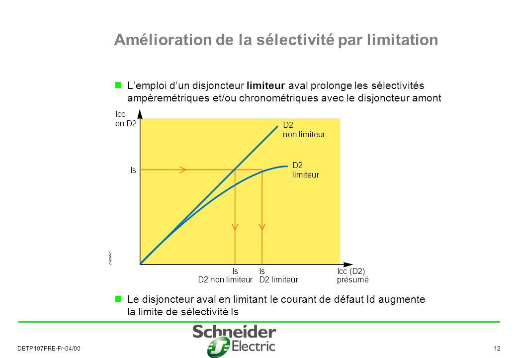 Amélioration de la sélectivité par limitation
