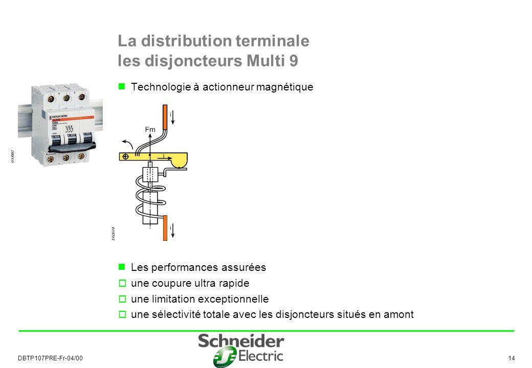 La distribution terminale les disjoncteurs Multi 9