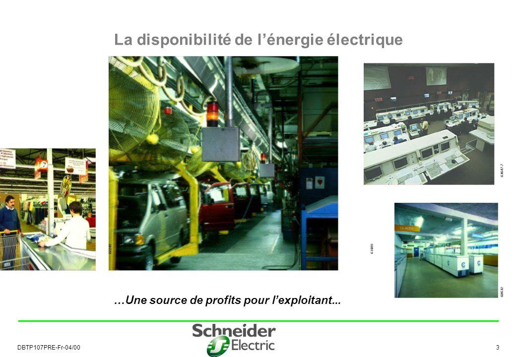 La disponibilité de l'énergie électrique