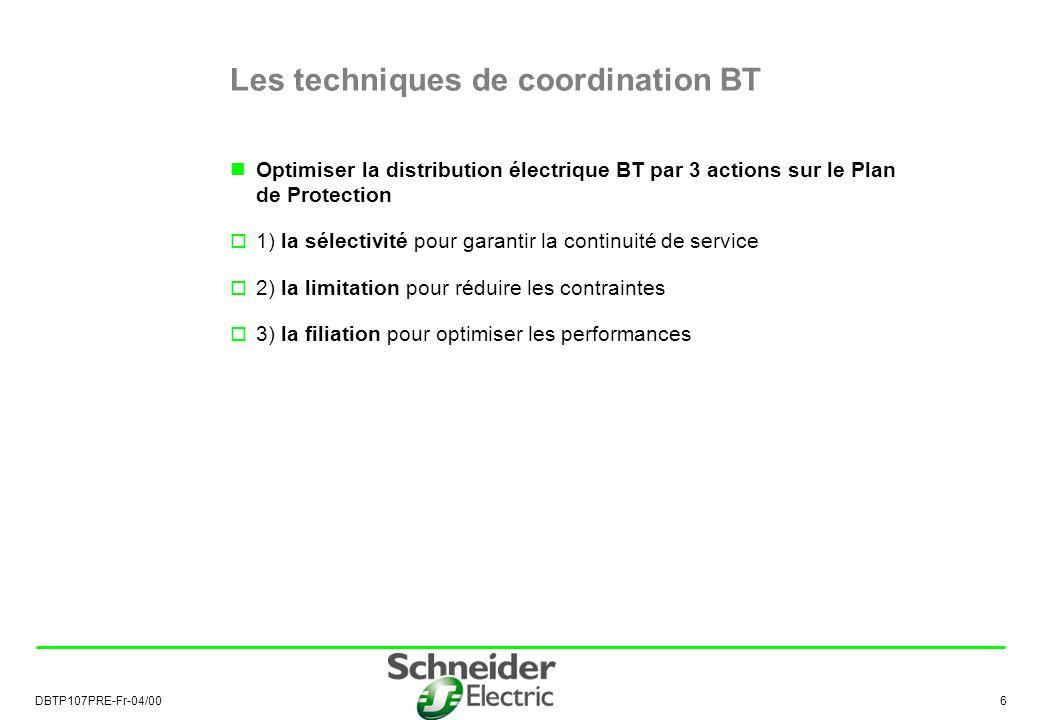 Les techniques de coordination BT