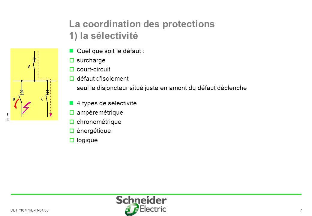 La coordination des protections 1) la sélectivité