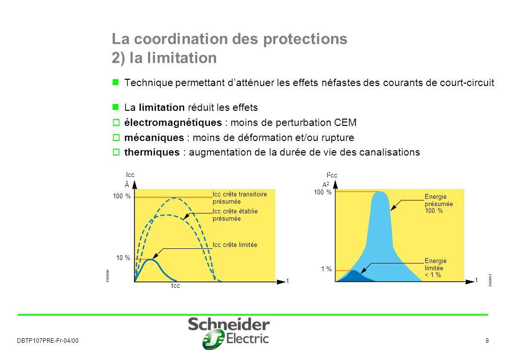 La coordination des protections 2) la limitation