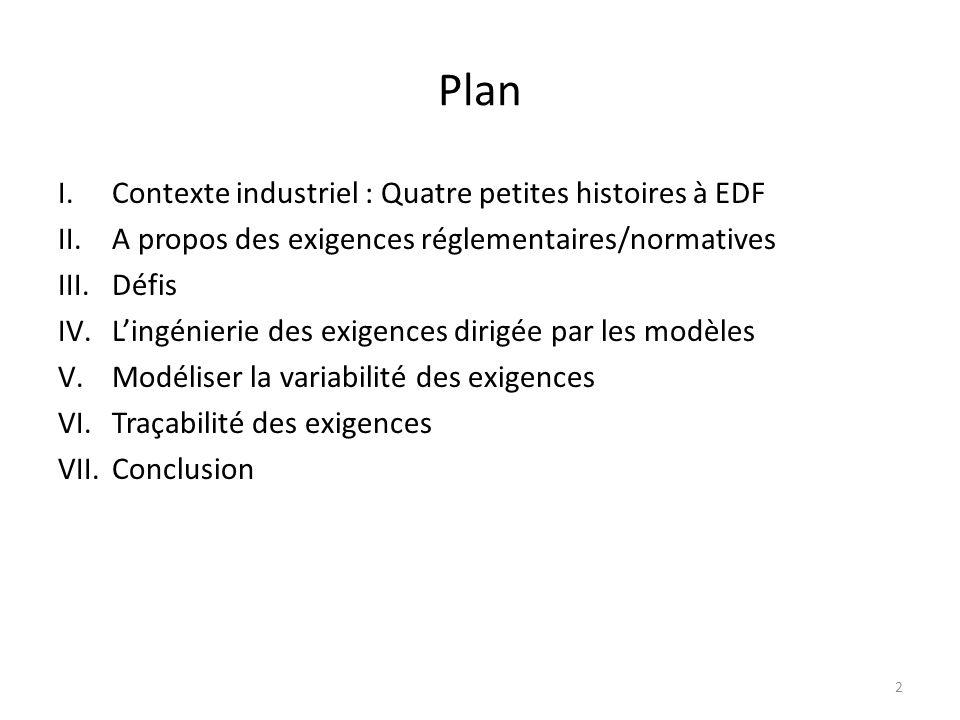 Plan Contexte industriel : Quatre petites histoires à EDF