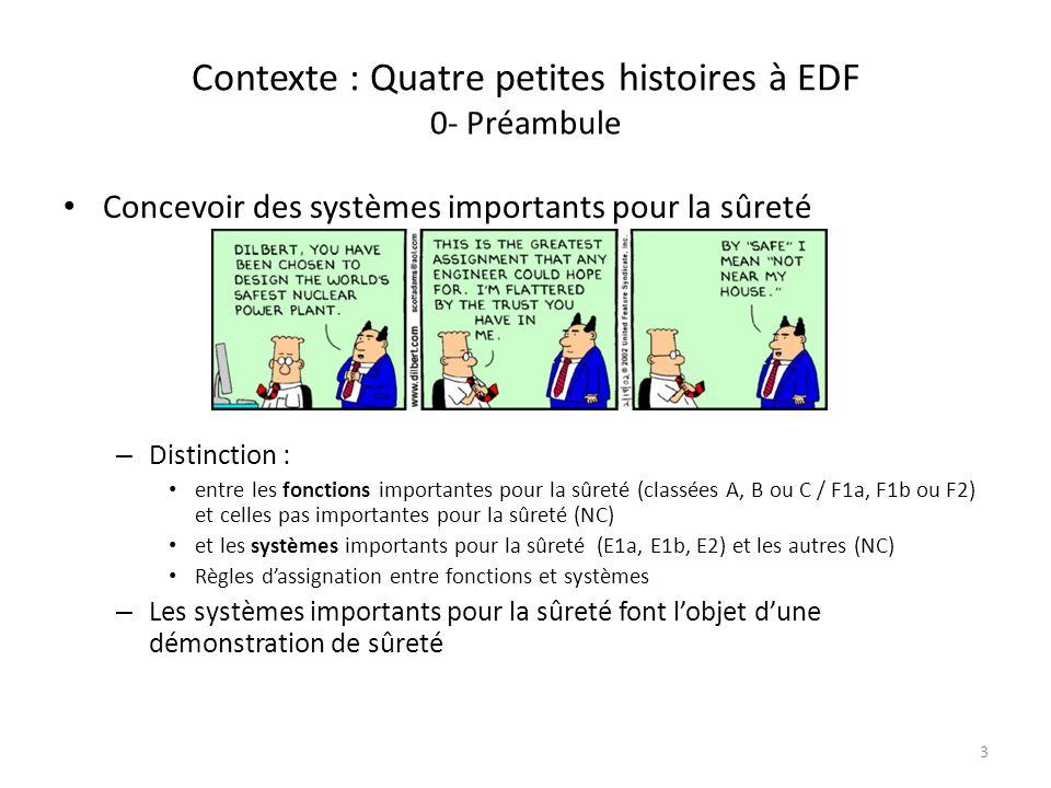 Contexte : Quatre petites histoires à EDF 0- Préambule