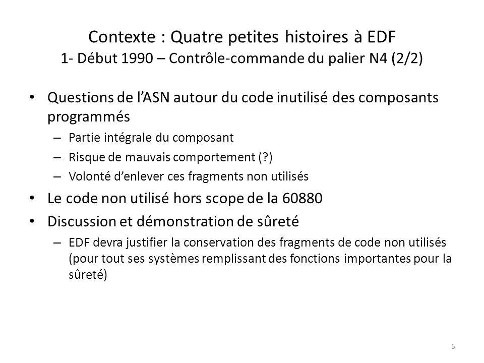 Contexte : Quatre petites histoires à EDF 1- Début 1990 – Contrôle-commande du palier N4 (2/2)