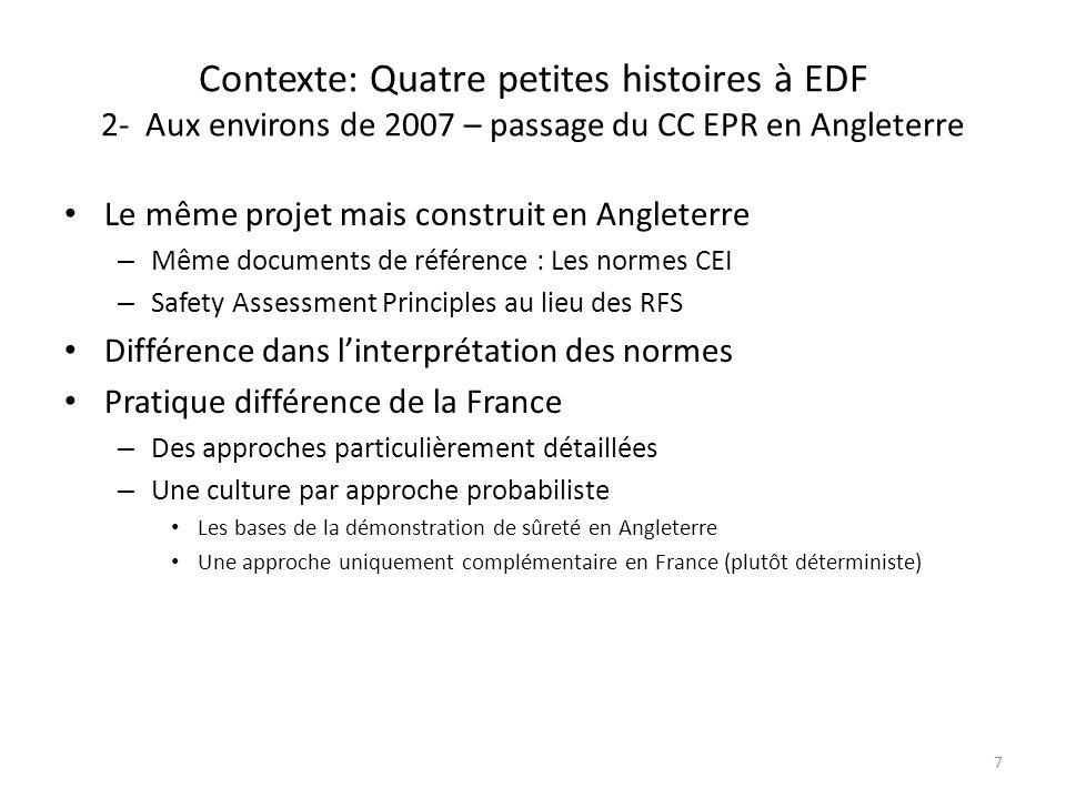 Contexte: Quatre petites histoires à EDF 2- Aux environs de 2007 – passage du CC EPR en Angleterre