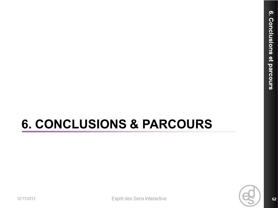 6. Conclusions & Parcours