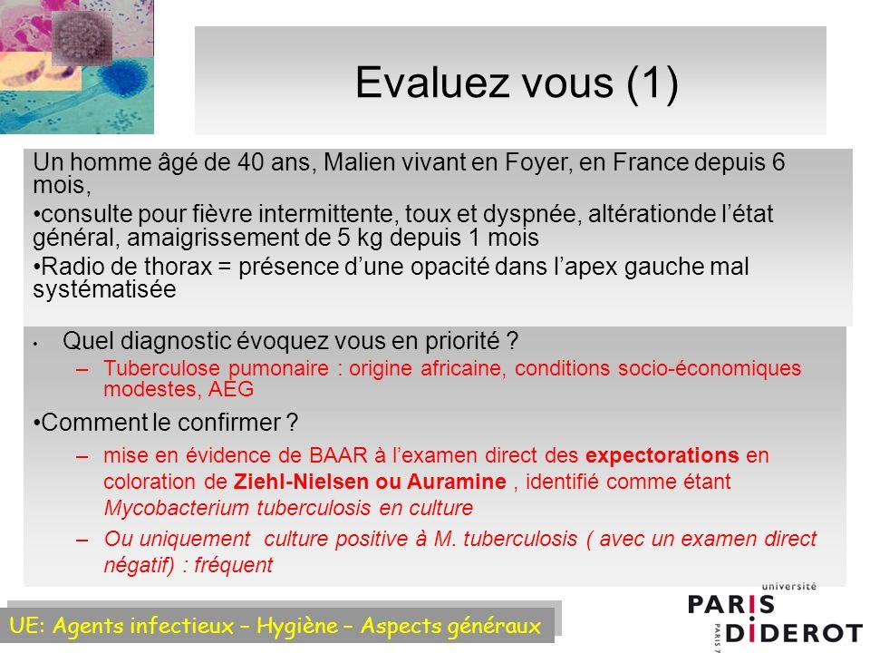 Evaluez vous (1) Un homme âgé de 40 ans, Malien vivant en Foyer, en France depuis 6 mois,