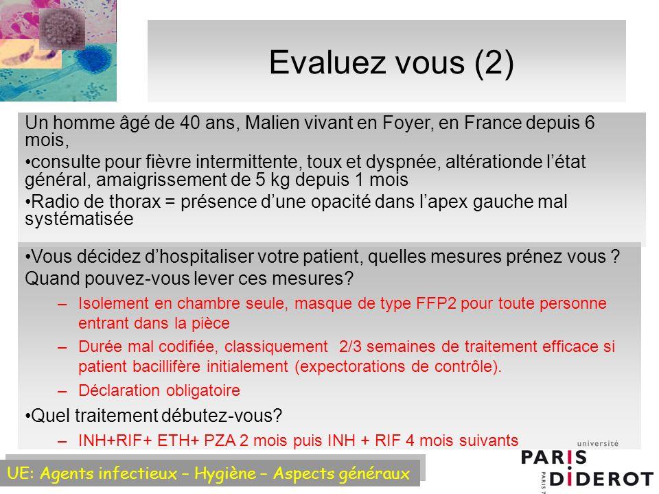 Evaluez vous (2) Un homme âgé de 40 ans, Malien vivant en Foyer, en France depuis 6 mois,