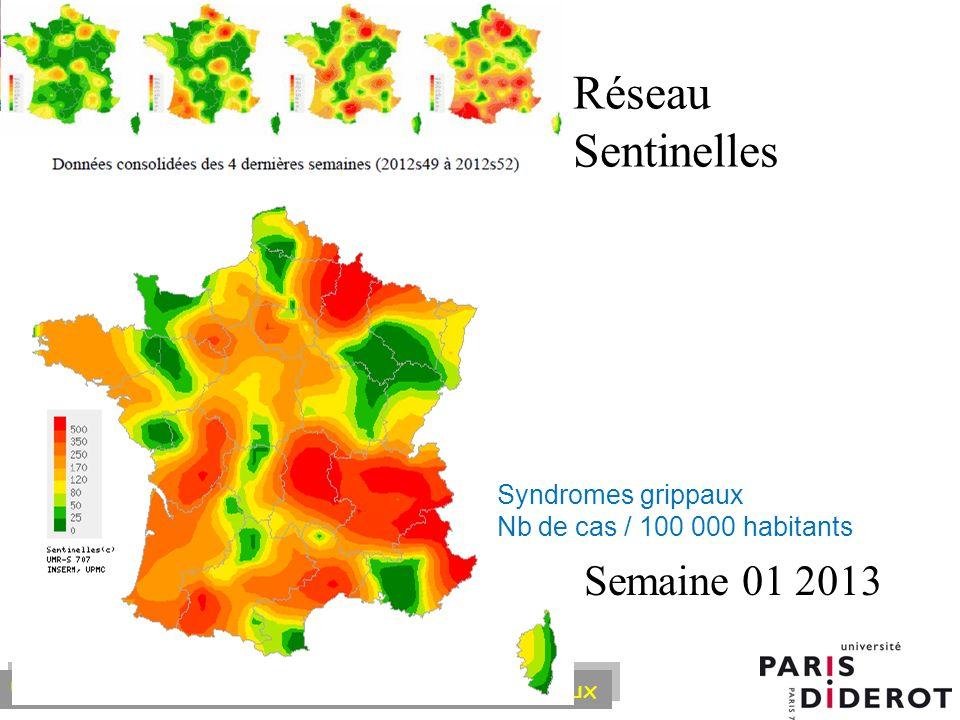 Réseau Sentinelles Semaine 01 2013 Syndromes grippaux