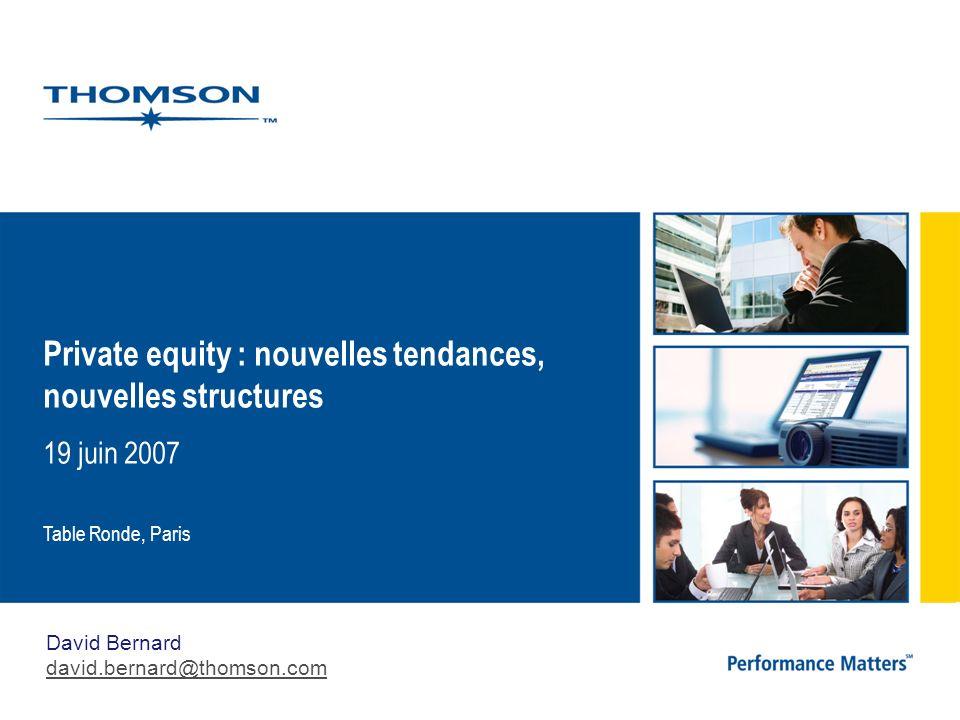 Private equity : nouvelles tendances, nouvelles structures