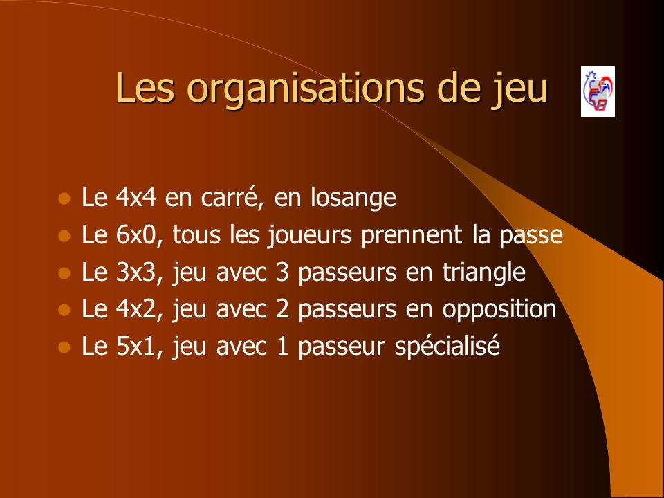 Les organisations de jeu