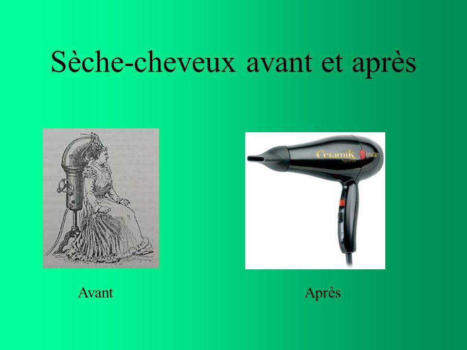 Sèche-cheveux avant et après